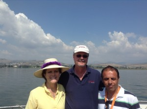 Dr. John and Dee Cook, and Amer Nicola, our Israel guide