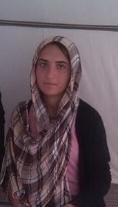 One of our girls rescued from ISIS earlier this year.  Please keep her in your special prayers.
