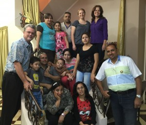 The Egyptian Child Sponsorship team with John & Dee Cook and Sarah Rieger