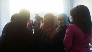 Refugees in clinic in Jordan receiving help