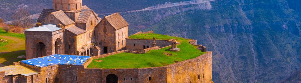 The Tatev Fortress in Armenia; inside are three churches, each one a stalwart tribute to the spread of the Gospel through the centuries despite waves of persecution.